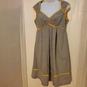 Blue and white stripe retro London Times dress